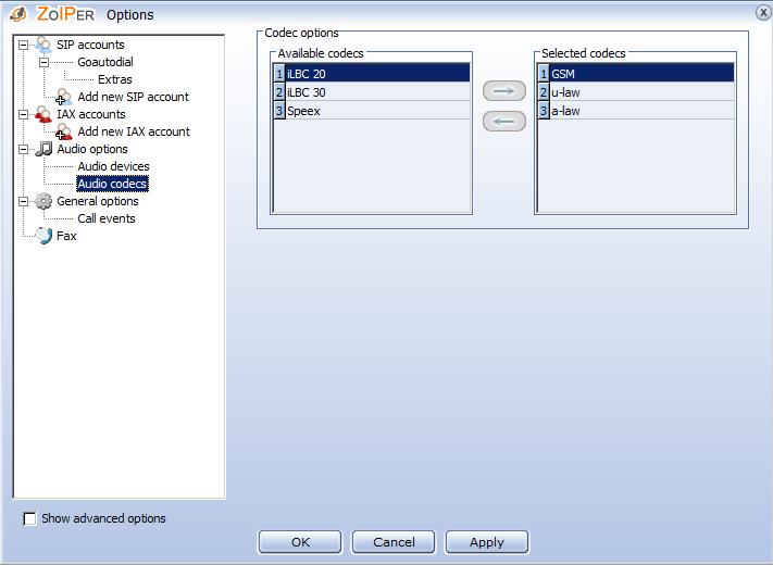 Zoiper Classic Configuration - GOautodial Omni-channel Contact